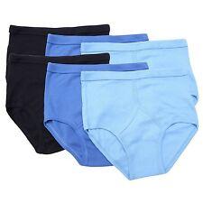 6 HOMBRE 100% algodón y Frontales Calzoncillos Blanco Con Azul M L XL 2xl 3xl