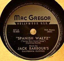 Jack Barbour Spanish Waltz 78 NM Folk Dance Country Canadian Barn Dance Insert