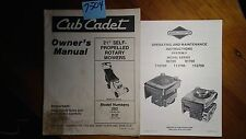 """Cub Cadet 21"""" Self-Propelled Rotary Mower 202 212 Owner Operator & Parts Manual"""