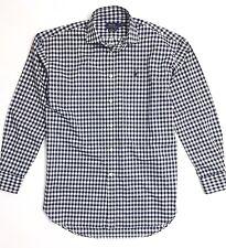 Polo Ralph Lauren Women's Shirt Boyfriend Fit Poplin Navy Blue Gingham Checks