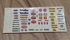 SCALEXTRIC VINTAGE STICKERS DECALS TRANSFERS 1980s #A