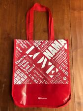 Lululemon Large Tote Red Reusable Shopping Bag 20 Year Manifesto Eco Gym Lunch