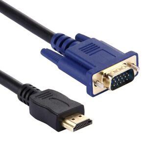 HDMI AUF ZU VGA VIDEO KABEL ADAPTER PC MONITOR FERNSEHR BILDSCHIRM NOTEBOOK Z103