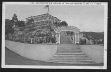 Postcard Catalina Island Ca Wrigley House 1920's