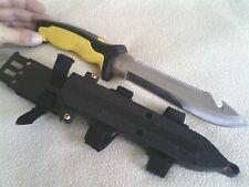 """12"""" Scuba Dive Knife yellow diver divers diving survival gear knives equipment"""