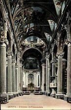 Genua Genova Italien Italia AK ~1910 Interno Basilika Annunziata Kirche Inneres