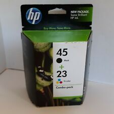 Genuine HP 45 23 Black Tricolor Ink Cartridges Combo Pack EXPIRED Sep 2011