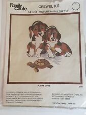 Pupply Love D301 Crewel Kit / Family Circle 1974 Open Complete