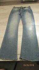WOMEN'S DKNY BLUE DENIM JEANS BOOT CUT SIZE 0 Times Square Flare