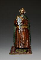 Austrian Vienna Naughty Bronze Figure Bedouin & Girl in Robe