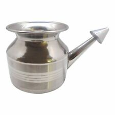 Ayurvedic India Non- Toxic Stainless Steel Neti Pot for Nasal Congestion