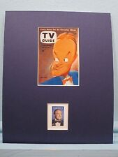 Bob Hope as shown on TV Guide Cover honored by his own stamp