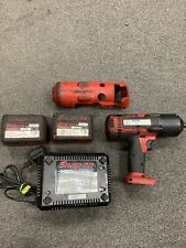 Snap-On CTEU8850 18v Impact Wrench 2 X 4.0ah Batteries & Charger & Cover