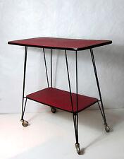 meuble télé desserte console bordeaux métal string noir Vintage
