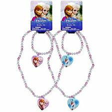 2 Set Disney Frozen Elsa & Anna Princess Necklace & Bracelet Set