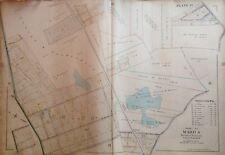 1898 ORIGINAL STATEN ISLAND CONCORD EMERSON HILL ROBINNSON ATLAS MAP 22X32