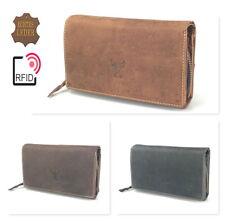Wild Echt Leder Damen Geldbörse Geldbeutel Damenbörse Portemonnaie Geldtasche