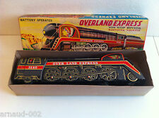 Modern Toys (Japan) - Locomotive Overland Express en tôle à piles 41 cm Vintage