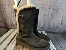 Koolaburra ugg uggs 7 snow womens boots shoes winter buttons gray fur