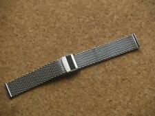 20mm STAINLESS STEEL MESH WATCH STRAP SUITABLE FOR SEIKO OR ANY 20mm WATCH