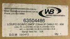 LC/UPC - SC/APC Fibre Patch Cord Jumper SMOF 2.0mm 2F Rugged Cable PC - 80M