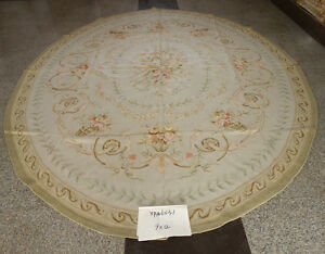 Oval Square Hand Woven Beautiful Color Authentic Handmade Aubusson Carpet