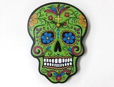 Green Sugar Skull - Day of the Dead -Dia de Los Muertos - Calavera - Wall Clock