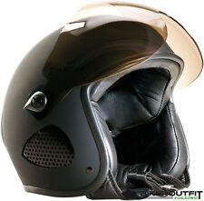 """BORES Jethelm Biker Design """"TITAN"""" SRM 2 SLIGHT Leder Motorradhelm Gr XXXL 62/63"""