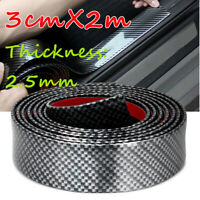 Car 3CM*2M Sticker Carbon Fiber Rubber DIY Door Sill Protector Edge Guard Strip