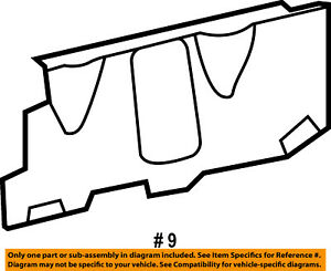 Radiator Support-Side Air Baffle Duct Deflector Shield Right 5113270AC
