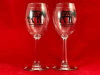 Fat Ass Ranch & Winery Wine Glasses Set of 2 with Hexagonal Stem