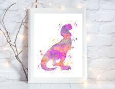 dinosaur nursery a4 gloss poster Print picture,unframed watercolour 9 UNFRAMED
