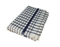 3 X Frotte Kariert Blau Weiß Tee Handtücher 100% Baumwolle - Ende der Line