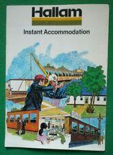 VINTAGE HALLAM LINCPAC HALLAMCABIN BROCHURE 1970s (PREFAB CABIN UNIT NOTTINGHAM)