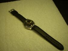 Seiko 5 Mens Automatic Wrist Watch 37mm Leather Strap Date & Day Runs Serviced