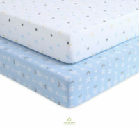 2 Pack Count Woodland Arrow Blue Fitted Crib Sheets By OptimaBaby