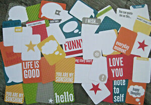 """'SLATE' PROJECT LIFE CARDS BY BECKY HIGGINS - 3"""" X 4"""" - 42 CARDS"""