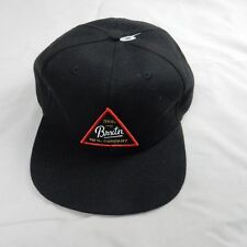 Brixton USA Patch Snapback Mens Black Adjustable Cue Six Panel Baseball Cap  NEW 5b1ada03164d