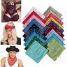 Unisex Rocker Kerchief Bandana Cotton Women Men Square Hairband Scarf Headwrap