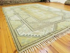 Exquisite 1950-1960's Vintage Muted Dye Wool Pile Oushak Area Rug 6'8''x8 39;7''
