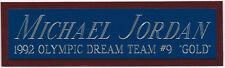 MICHAEL JORDAN DREAM TEAM NAMEPLATE FOR SIGNED-BASKETBALL-JERSEY-PHOTO-FLOOR
