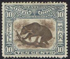 NORTH BORNEO 1897 BEAR 10C