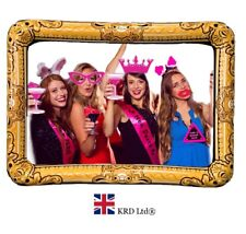 HEN PARTY PHOTO BOOTH KIT Blow Up Wedding 20 PROPS + INFLATABLE SELFIE FRAME UK