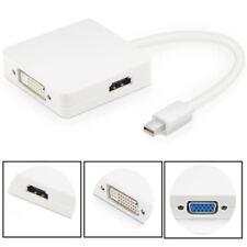 Adaptador OTG 3 en 1 Mini DP (DisplayPort) 4k a DVI, HDMI, VGA a3269