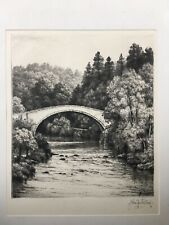 John Fullwood Signed Artist Proof Brig O' Doon Drypoint Etching Ltd Ed 150