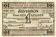 05 Netherlands / Niederlande Mev.02-2b/AX 2.2b Zilverbon 1 Gulden 1917 Serie ANY