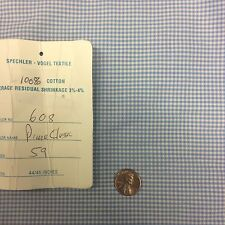 "Swiss Pima Cotton Classic Blue 1/8"" Gingham 44/45"""