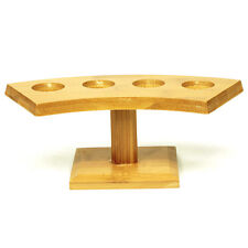 Temaki Sushi Holder Ice Cream Holder Table Top Display 4 Holes Bamboo Stand