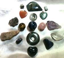 17 Stones - Obsidian, Quartz, Amethyst, Labradorite, Rose Quartz, Tiger's, Jade