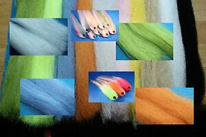 Pike / Predator Fly tying material, Silver Scales 'Preyfish Fibre' 18 colours!